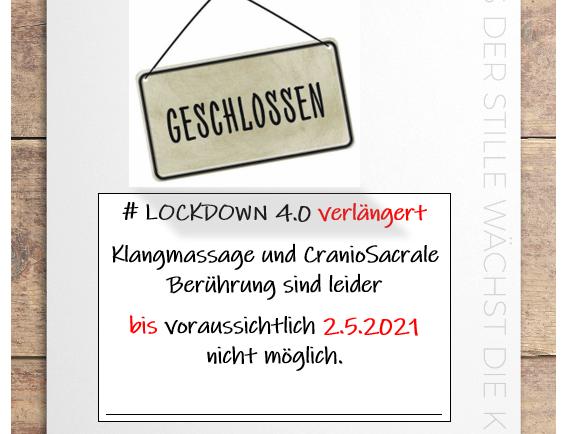Verlängerung Lockdown 4.0